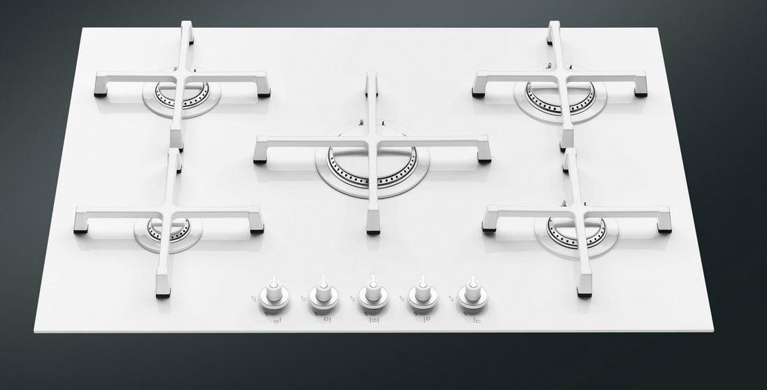 Il Progetto Ha Portato Allu0027applicazione Di Smalto Bianco Su Griglie In  Ghisa, Cappellotti E Couvettes In Acciaio Per Piani Di Cottura A Gas.